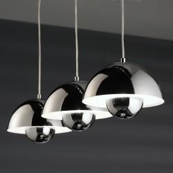 7801/33 Hanglamp 3L halfronde kap Chrome