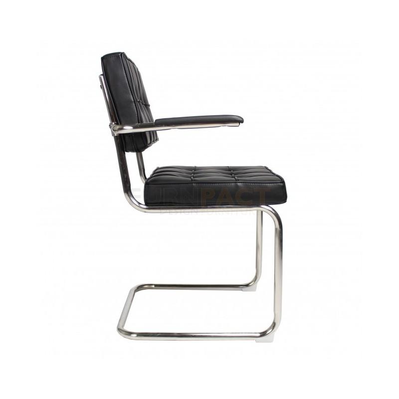 Bauhaus stoel met arm zwart inhomedesign for Bauhaus design stoelen