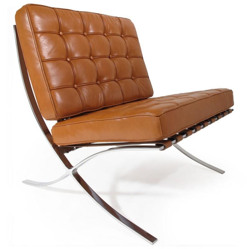 Admirable Barcelona Chair Cognac Premium Leather Bralicious Painted Fabric Chair Ideas Braliciousco